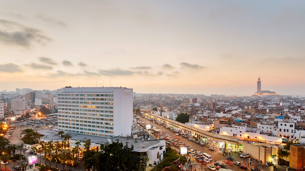 Aerial view of Hyatt Regency Casablanca