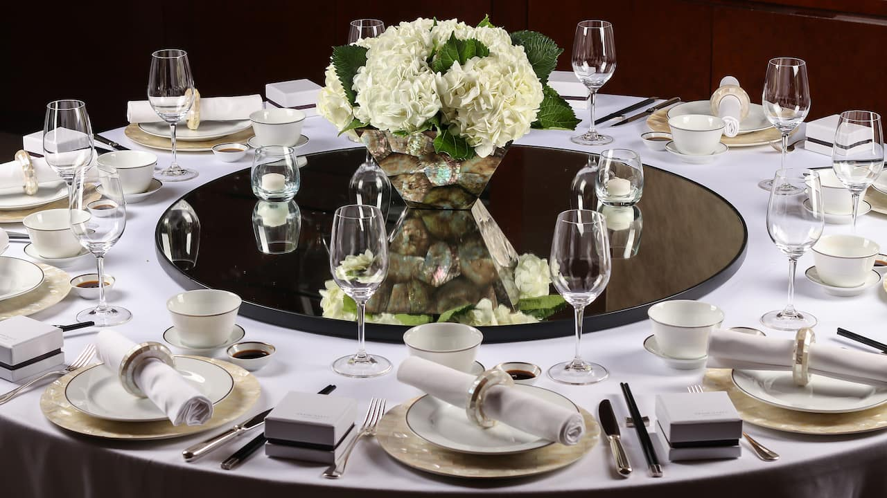 Grand Hyatt Kuala Lumpur - Weddings (Table Setting)