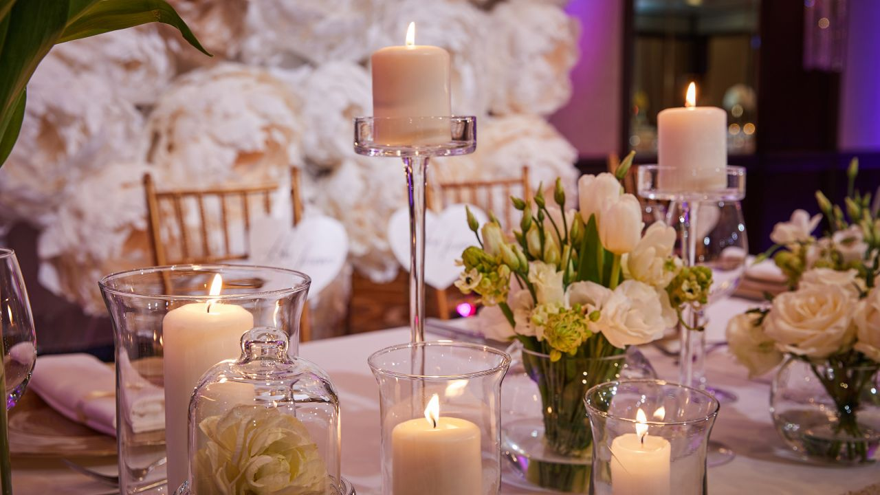 Crystall Ballroom Wedding Candles