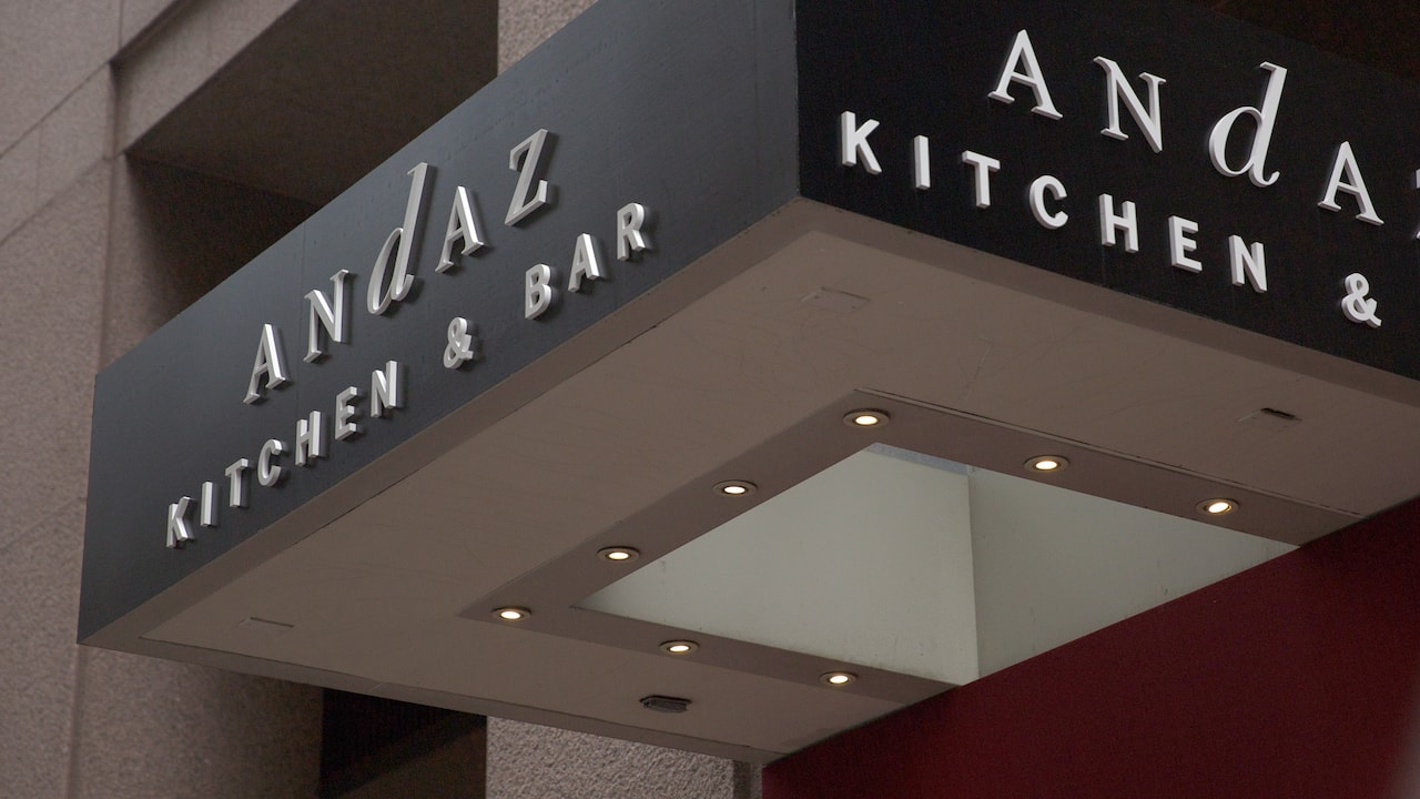 Kitchen and Bar at Andaz Wall Street