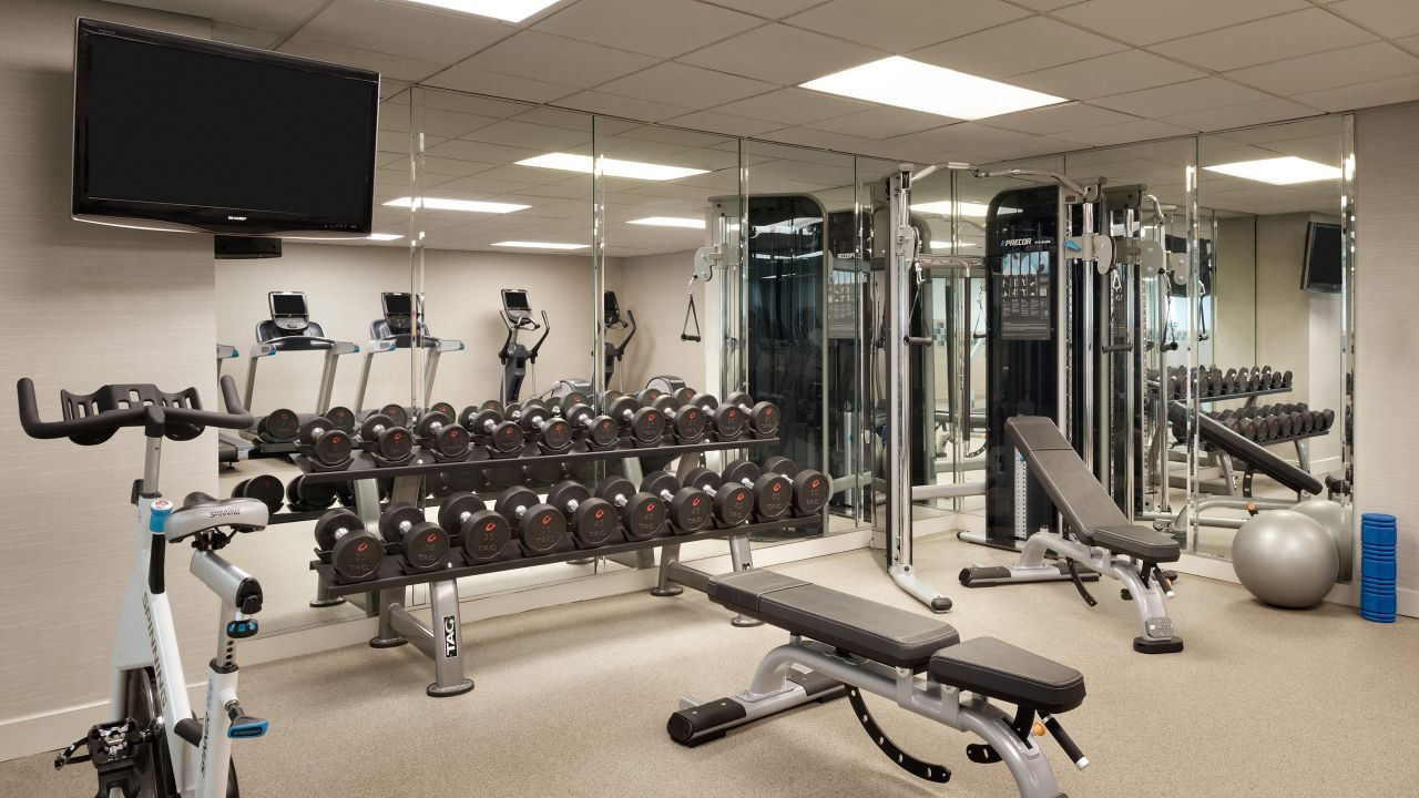 Strength equipment in the fitness center