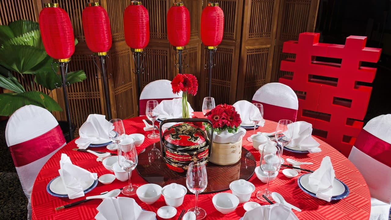 Chinese Wedding Setup at Cempaka Room Event Space Hyatt Regency Kinabalu