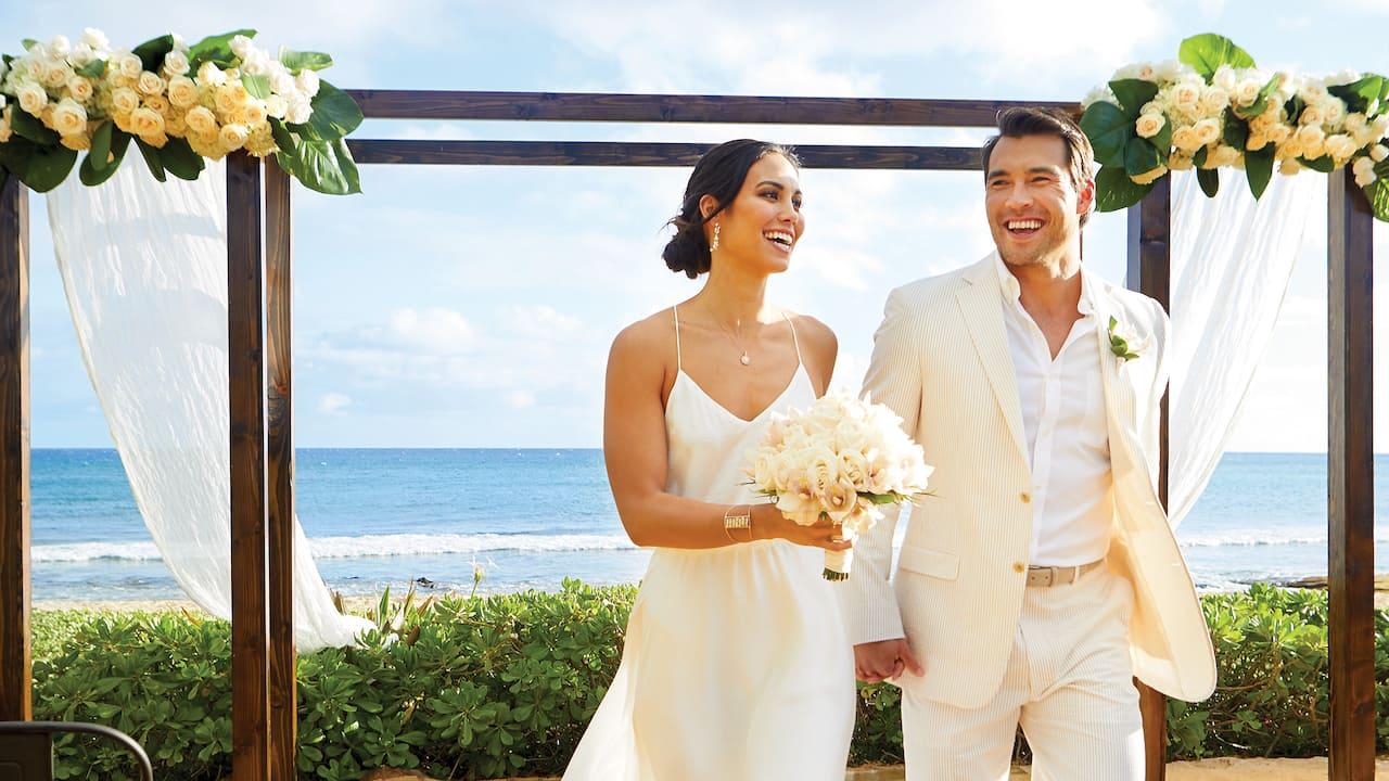 Grand Hyatt Kauai Resort Outdoor Wedding Venue Hawaii