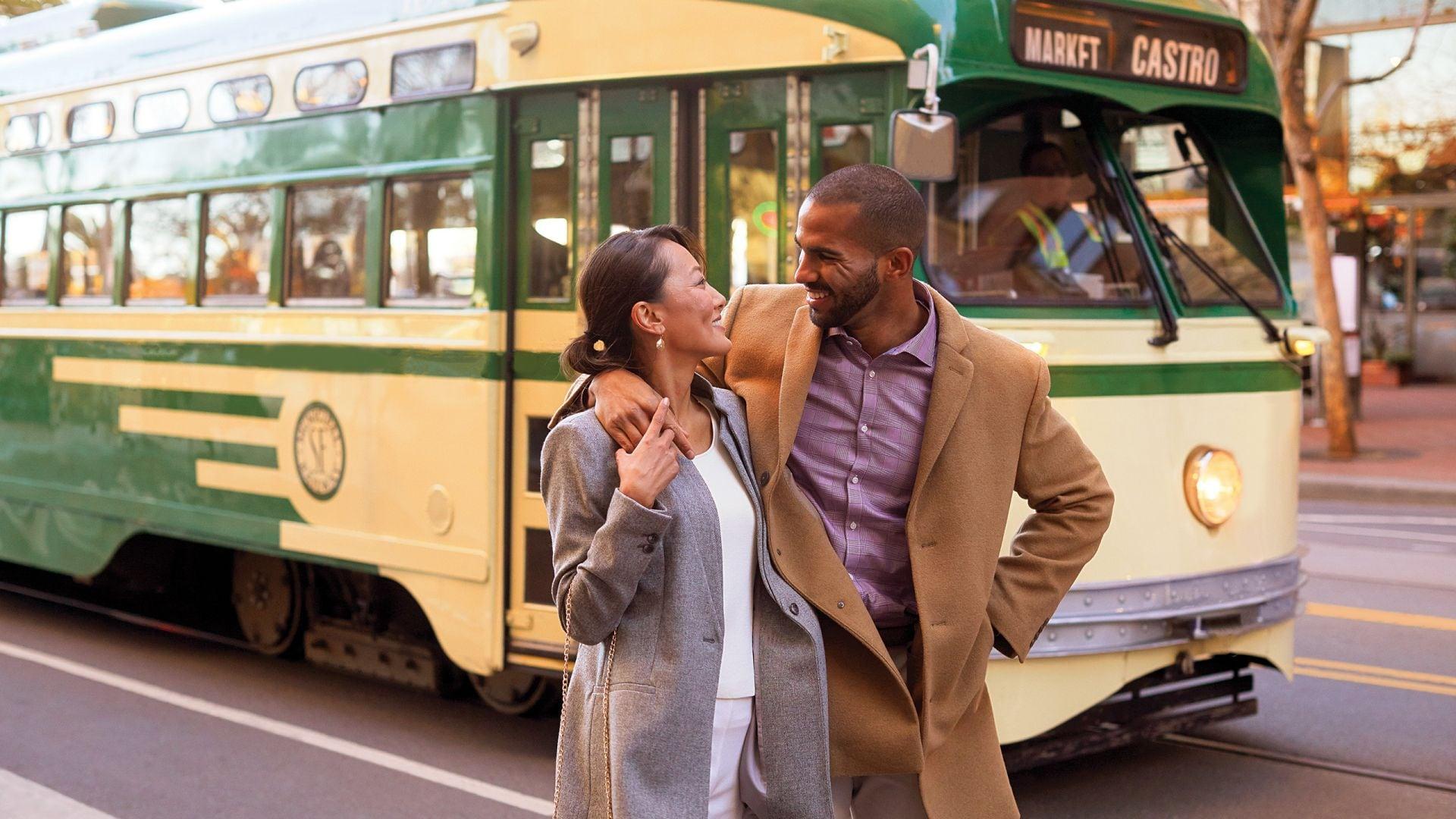 Grand Hyatt San Francisco Bus Couple