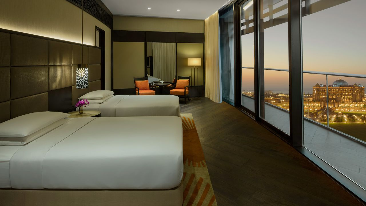 Two beds with view