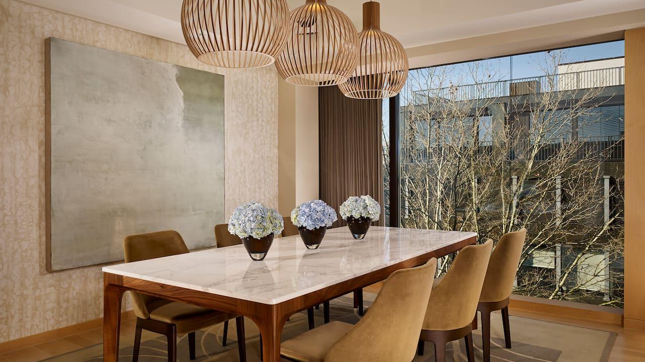Presidential Suite at Park Hyatt Zurich – Dining Area