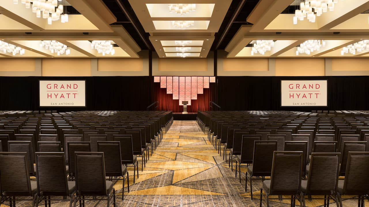 A conference room inside Grand Hyatt San Antonio