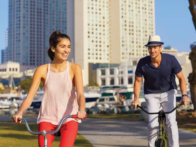 Biking at Manchester Grand Hyatt San Diego