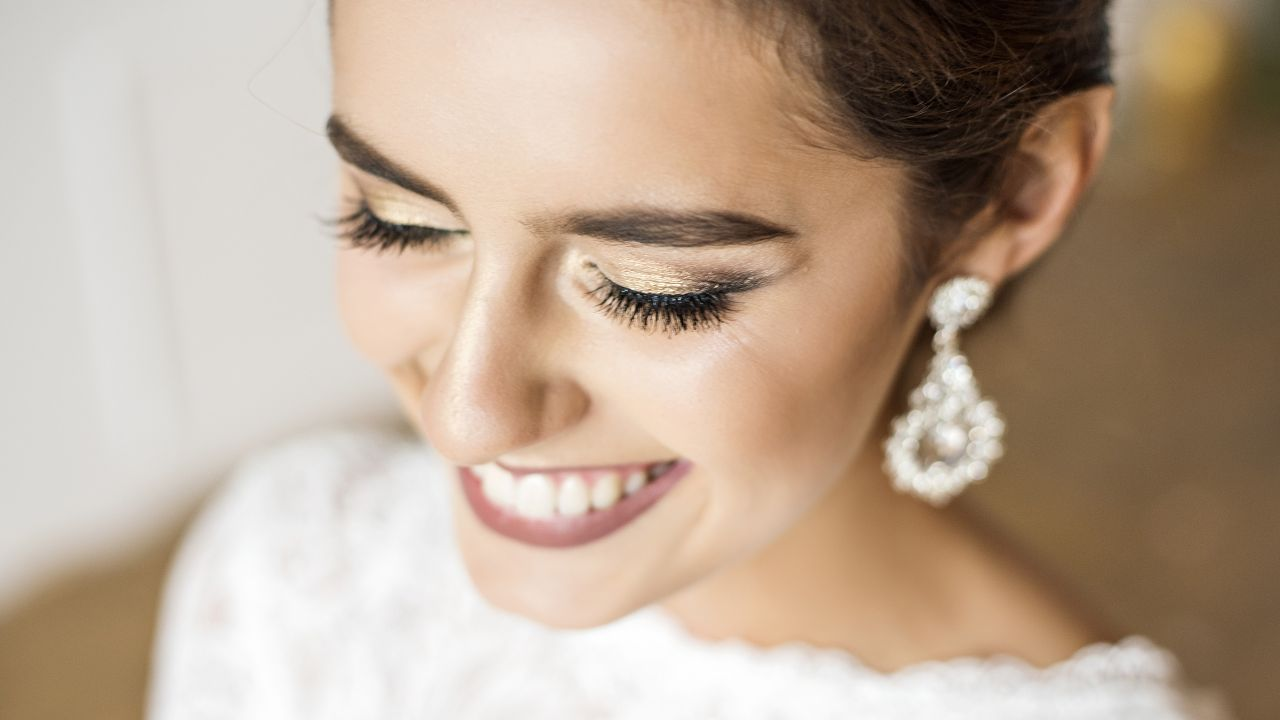 Bride Smiling Closeup