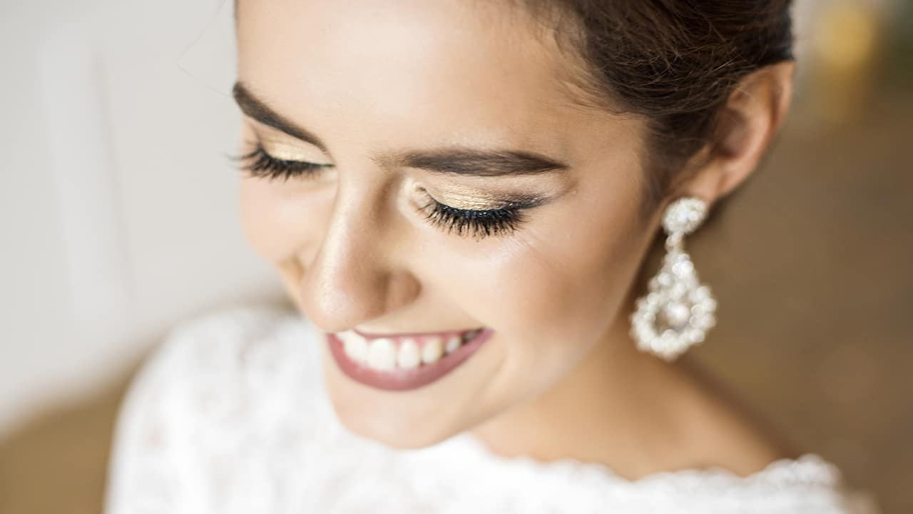 Bride Smiling Closeup