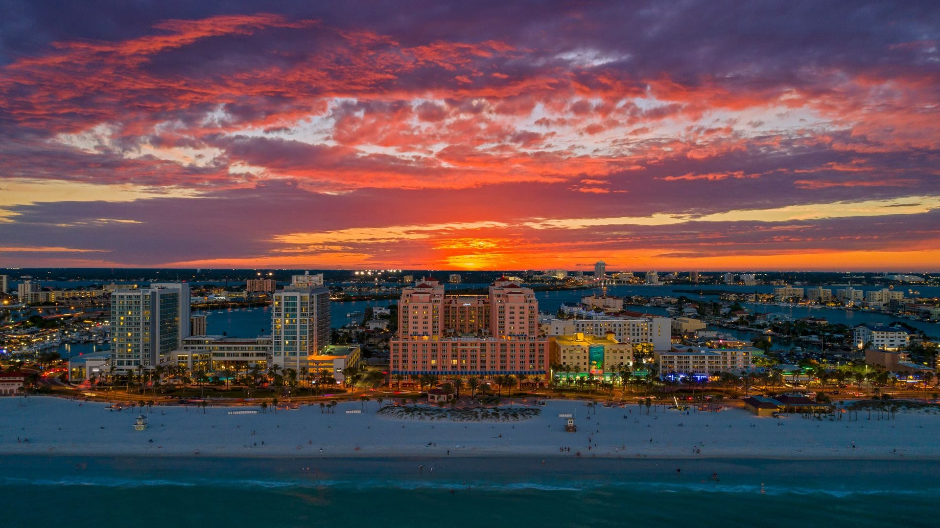 Sunset Clearwater Hyatt Regency Clearwater Beach Resort