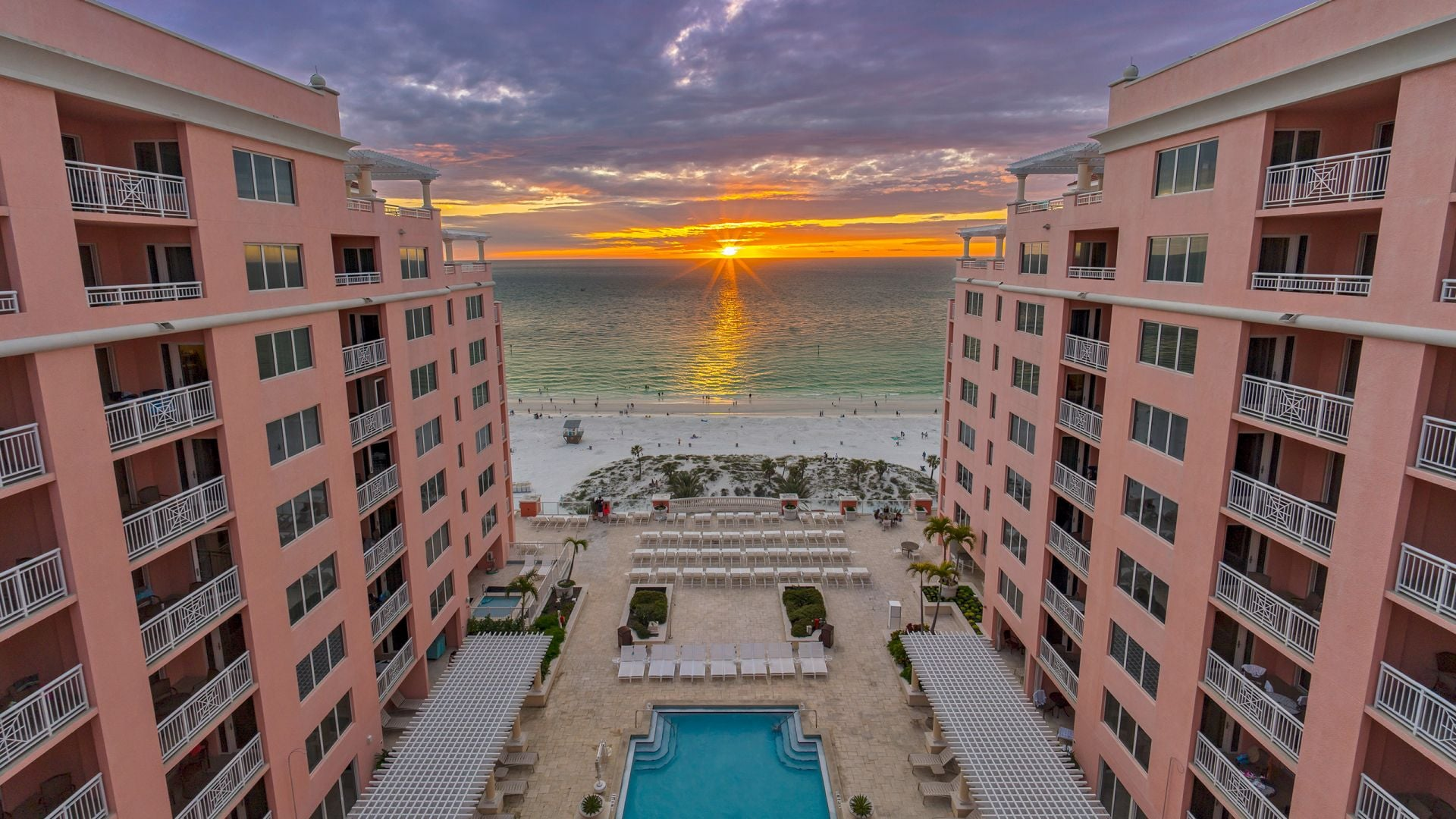 Sunset in Florida at Hyatt Regency Clearwater Beach
