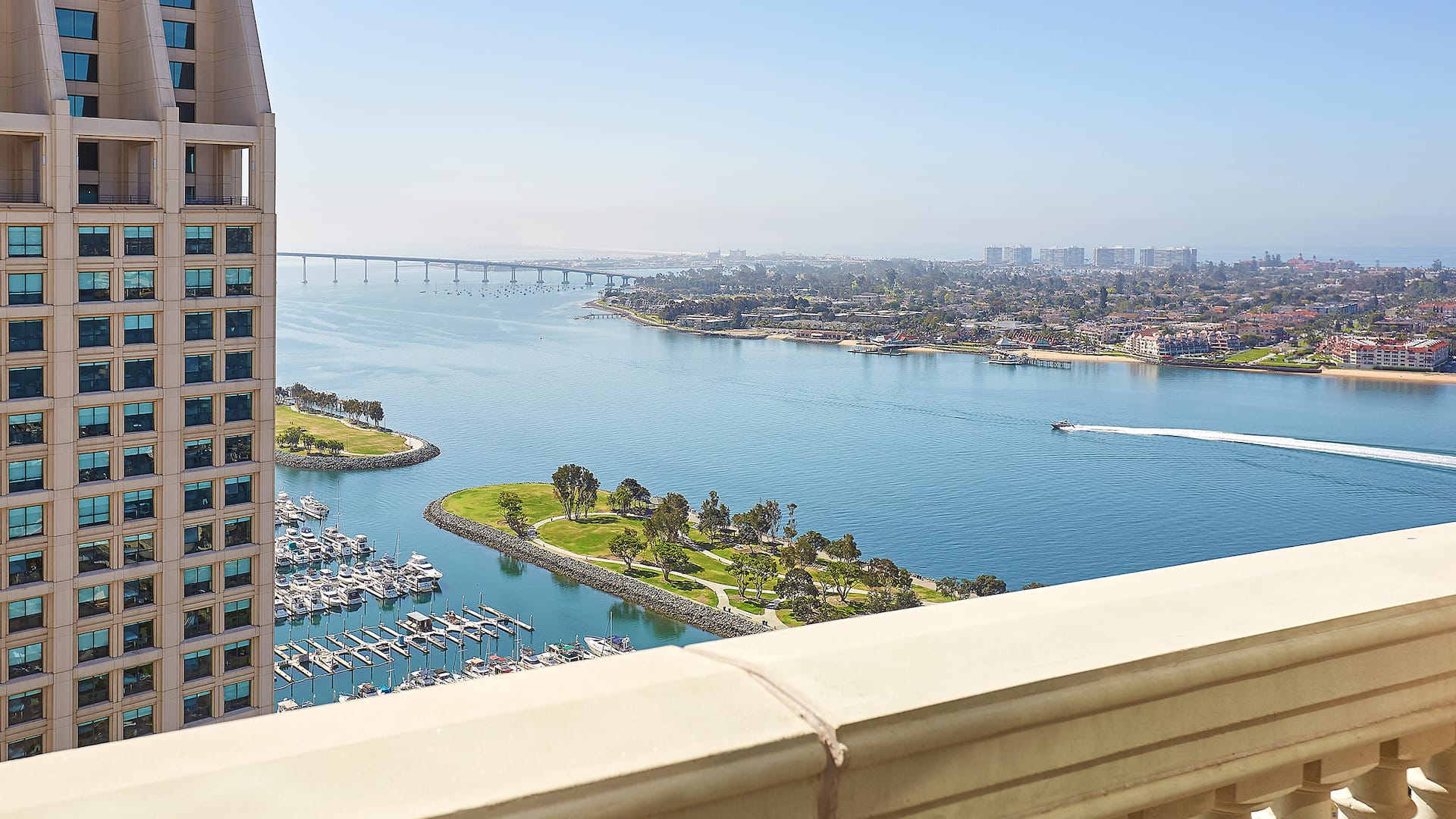 View from balcony at Manchester Grand Hyatt San Diego