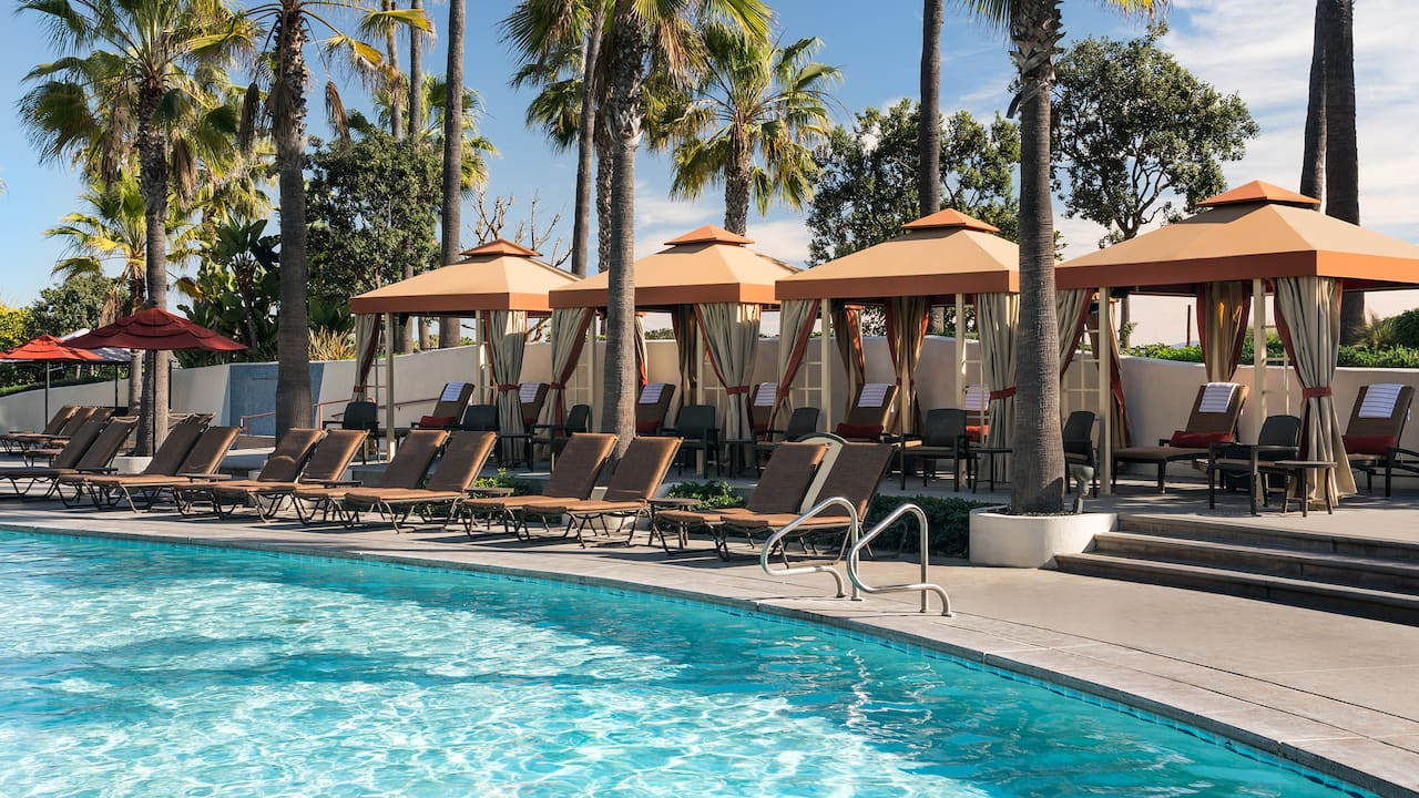Huntington beach cabanas | Hyatt Regency Huntington Beach Resort and Spa