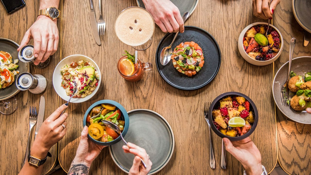 Restaurants and bars for breakfast, lunch, brunch and dinner | Andaz London Liverpool Street
