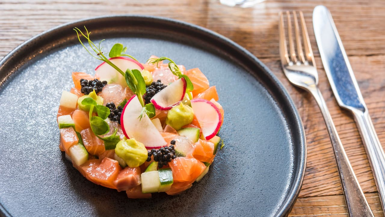 Eastway Brasserie brunch salmon | Andaz London Liverpool Street