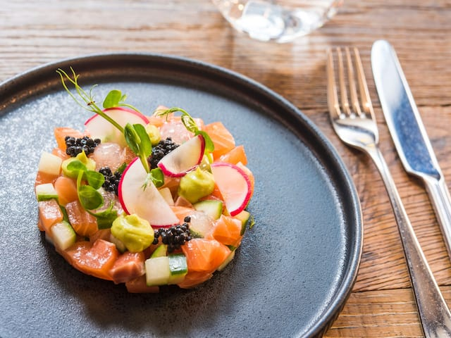 Andaz London Liverpool Eastway Brunch Salmon