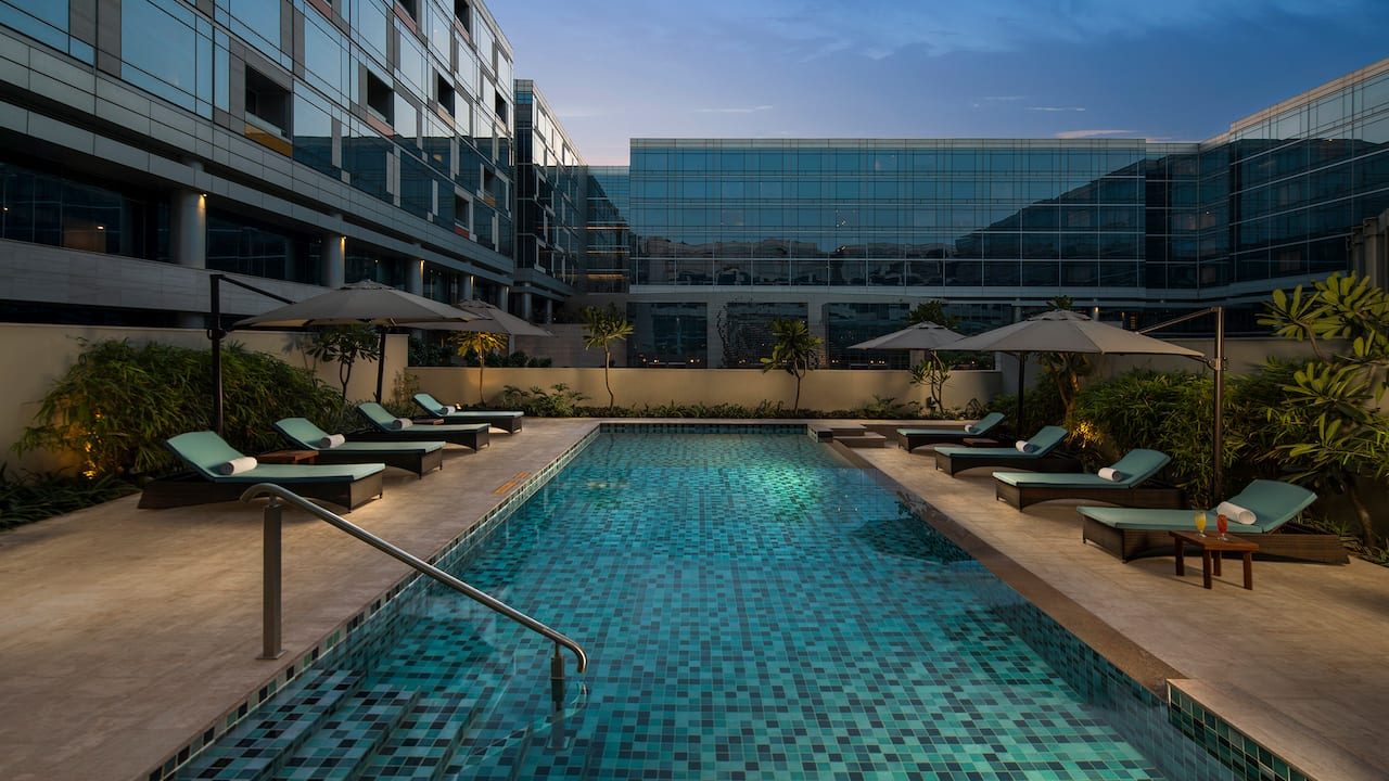 Andaz Delhi Pool - Full service Luxury Apartments in Delhi