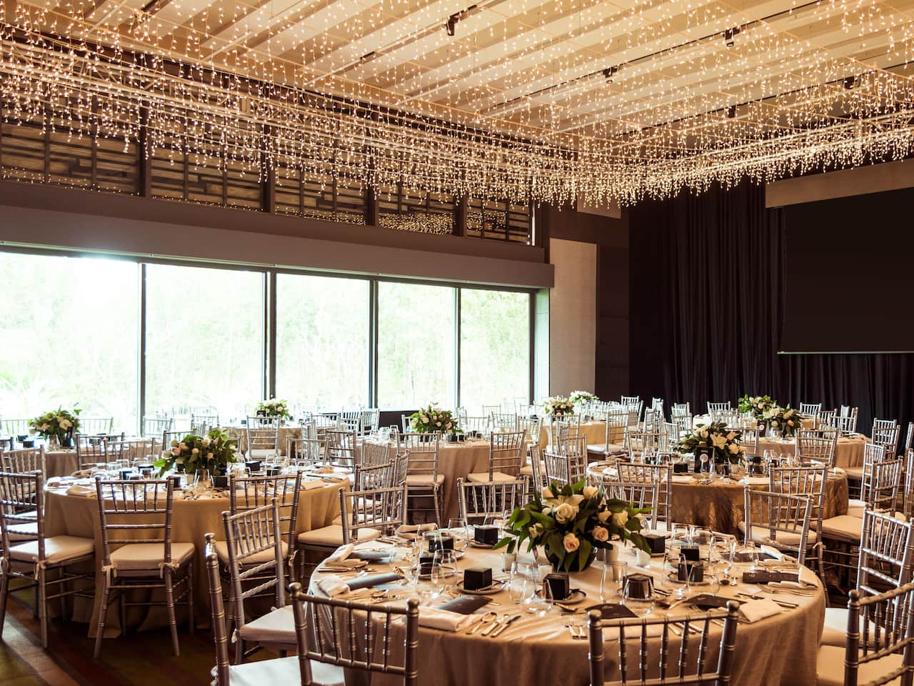 Andaz Mayakoba Resort Riviera Maya wedding set up