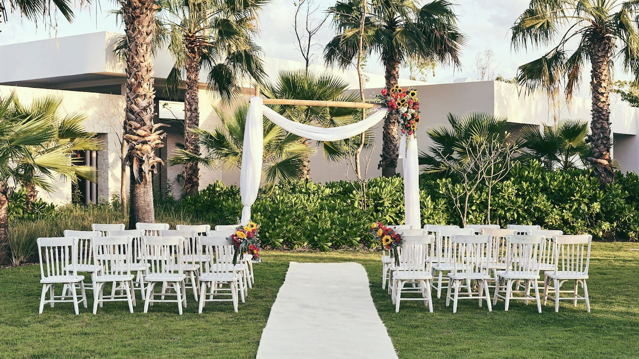 Balam Garden Wedding Setup