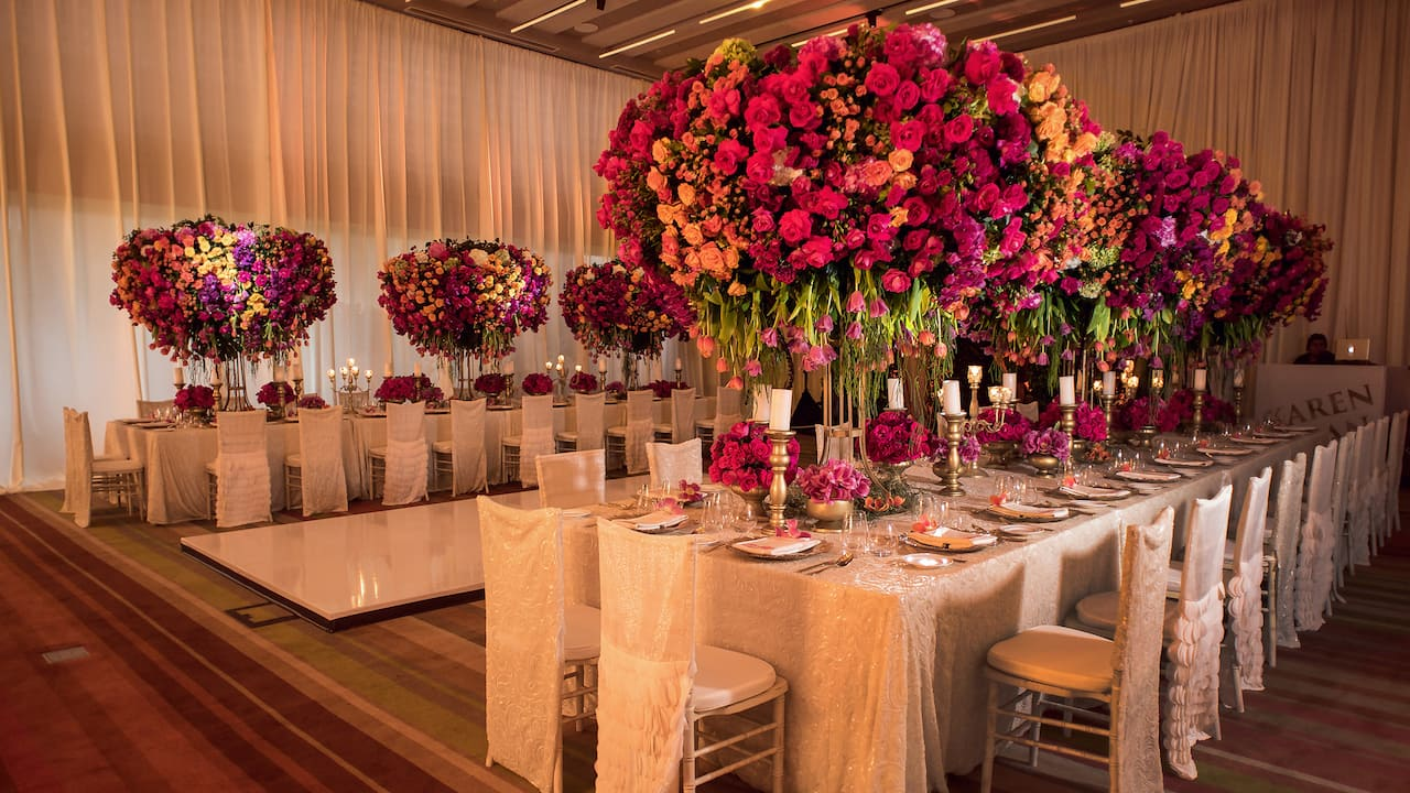 Andaz Mayakoba Resort Riviera Maya wedding catering and set up