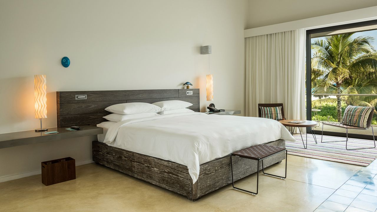Andaz Mayakoba Resort Riviera Maya bilevel suite bed