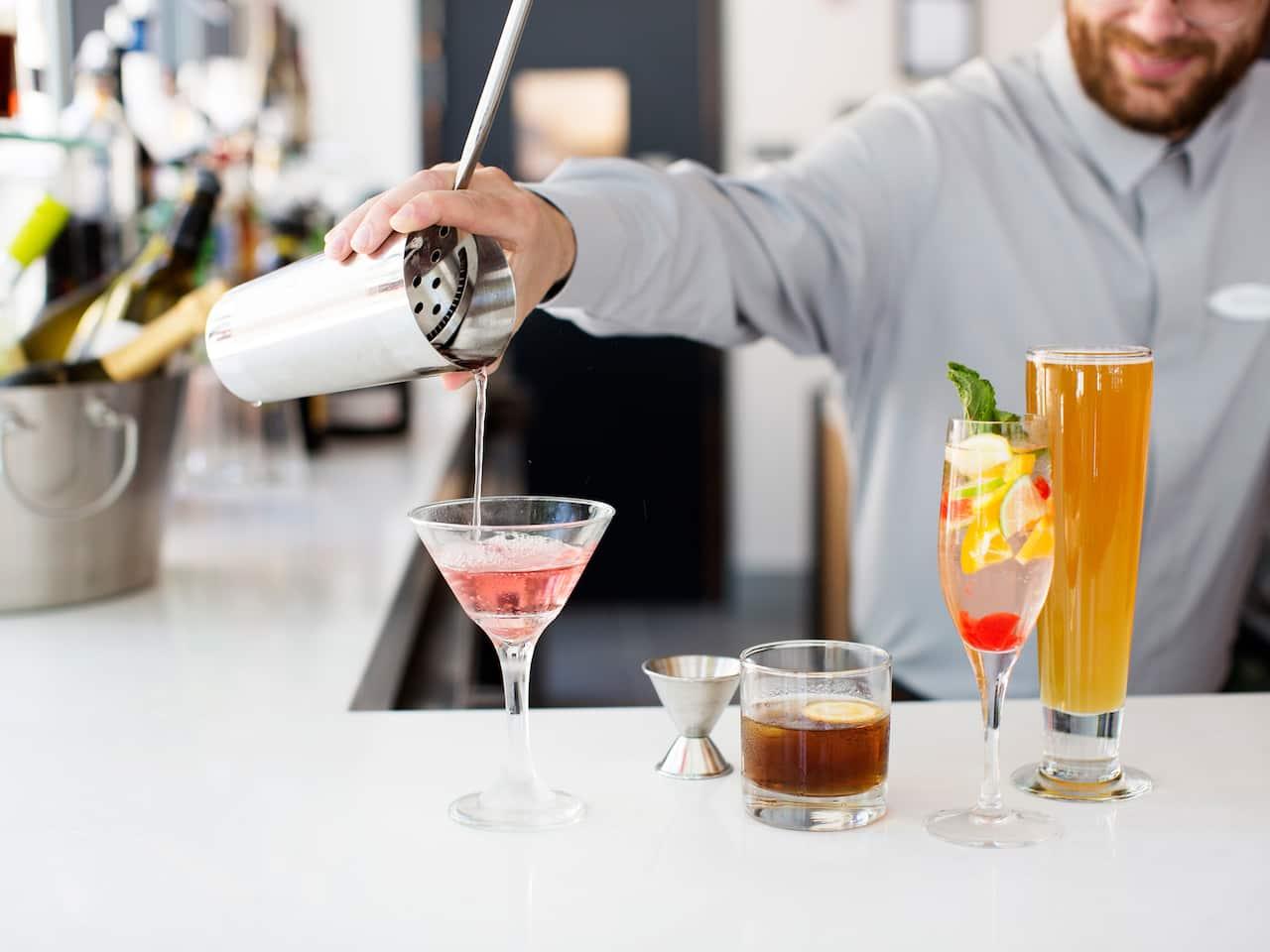 Bartender Pouring