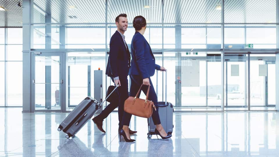 Business Travelers in the Airport