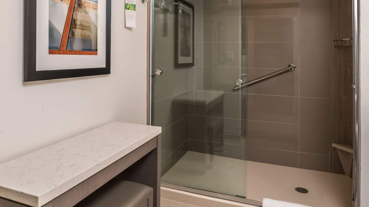 Hyatt House Raleigh / RDU / Brier Creek Roll-In Shower