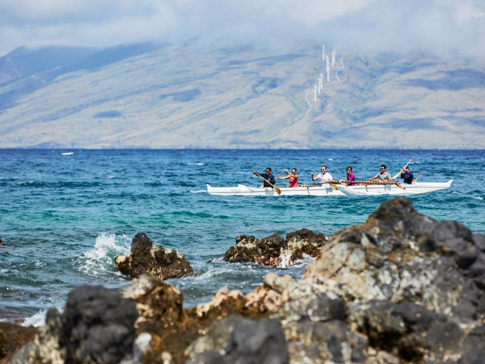 Group in an Outrigger Canoe