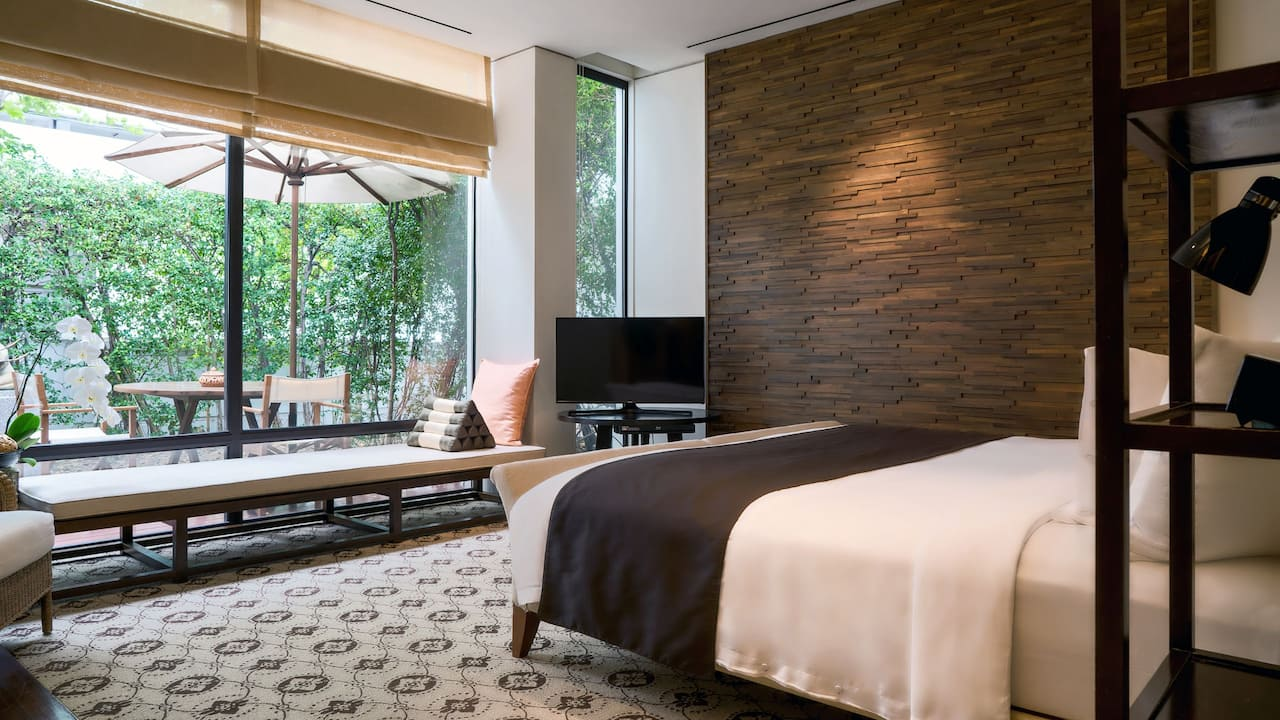 Spa Cottage Bedroom  - Grand Hyatt Erawan Bangkok