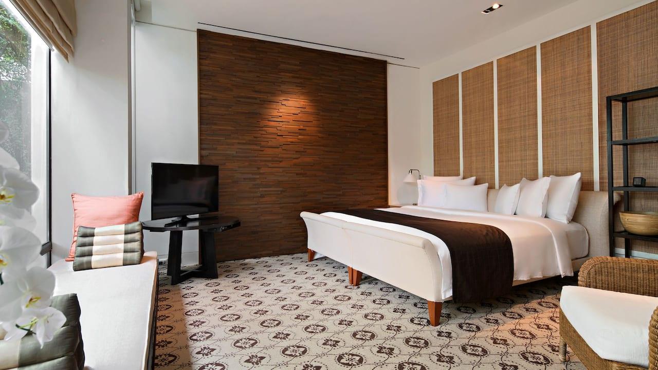 Spa Cottage Bedroom front
