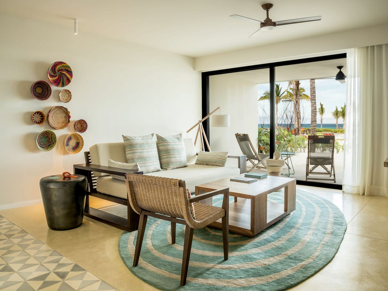 Andaz Mayakoba Resort Riviera Maya ocean view suite living room