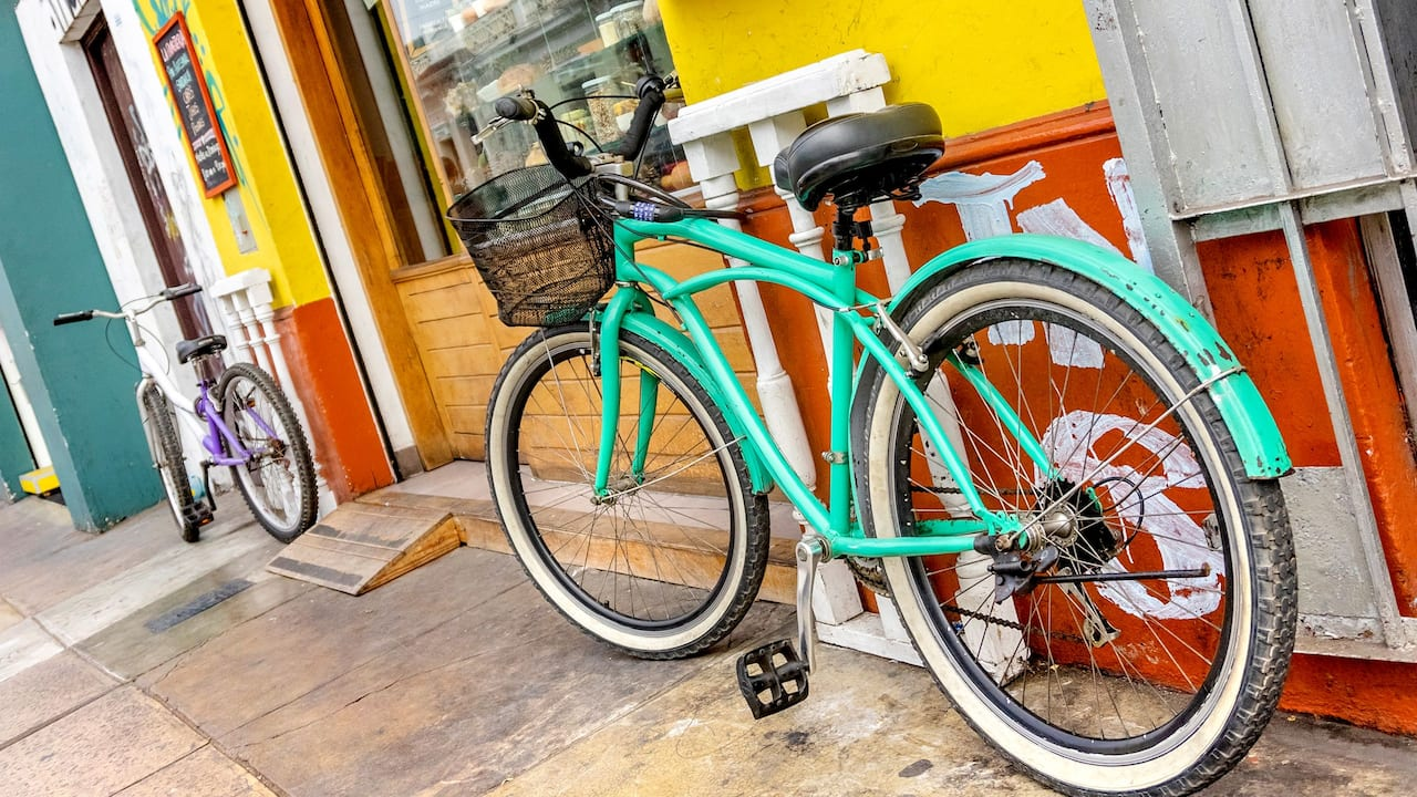 bike on street