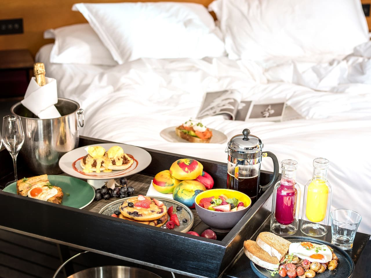 Room service options at Andaz London Liverpool Street