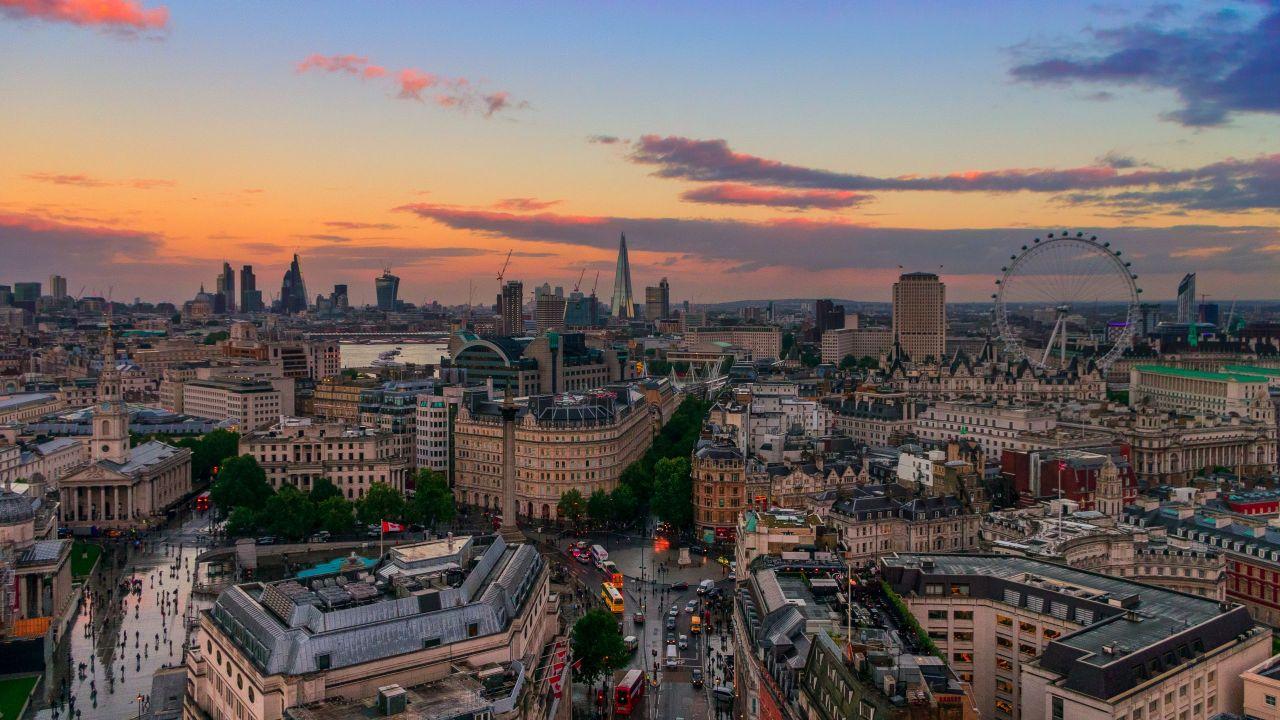 London skyline London Eye Shard London City