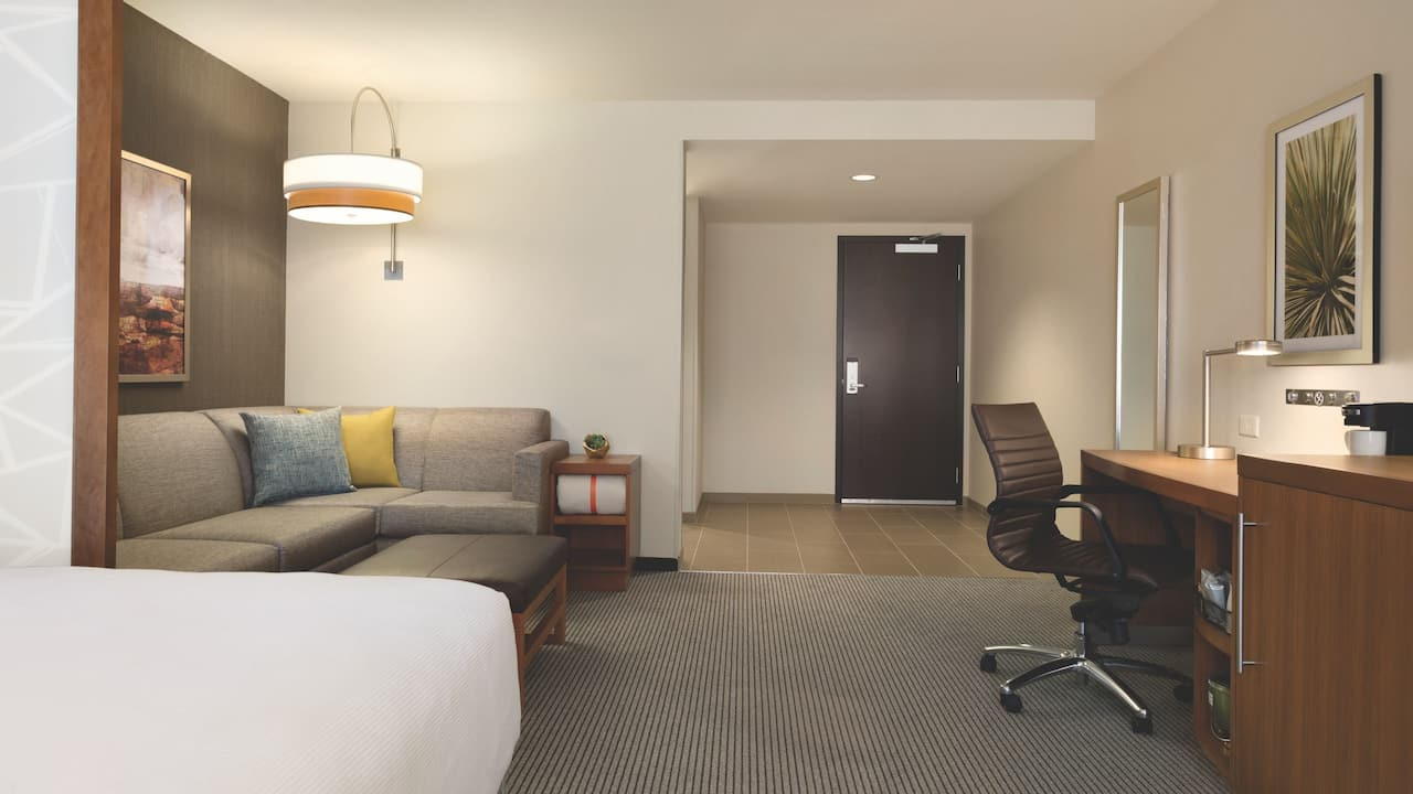 Accessible suite with king bed and shower
