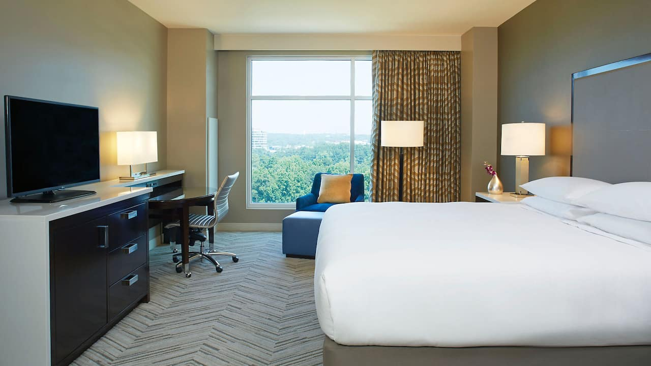 King Room Hyatt Regency Atlanta Perimeter at Villa Christina