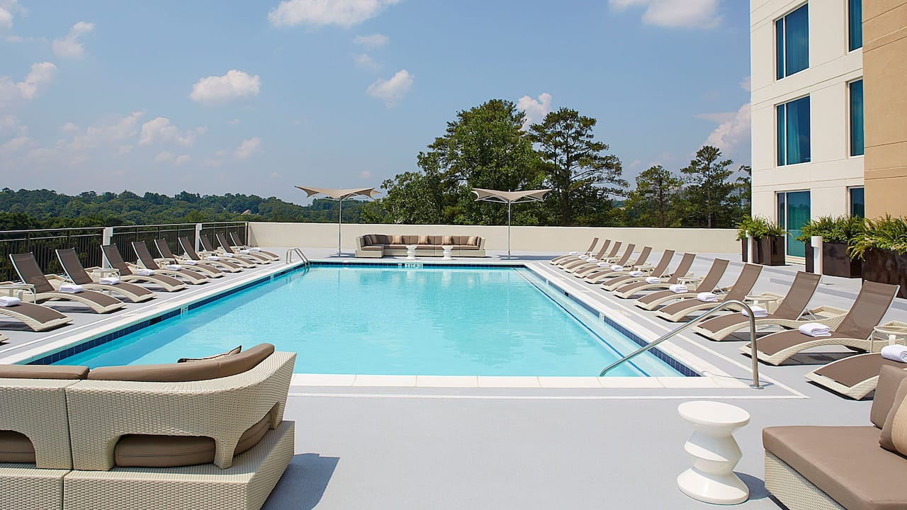 Outdoor Pool Day Hyatt Regency Atlanta Perimeter at Villa Christina