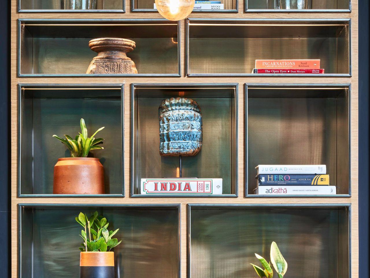 lobby shelf