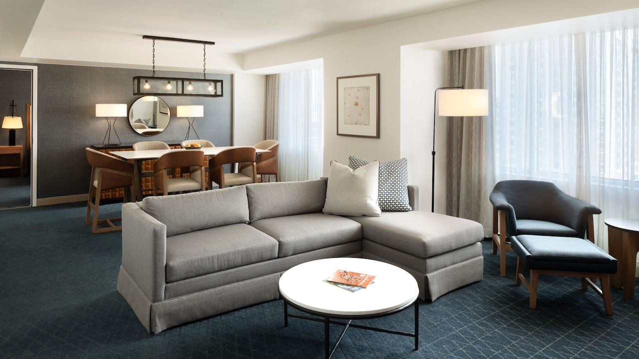 Luxury hotel suite near the Henry B. Gonzalez Convention Center
