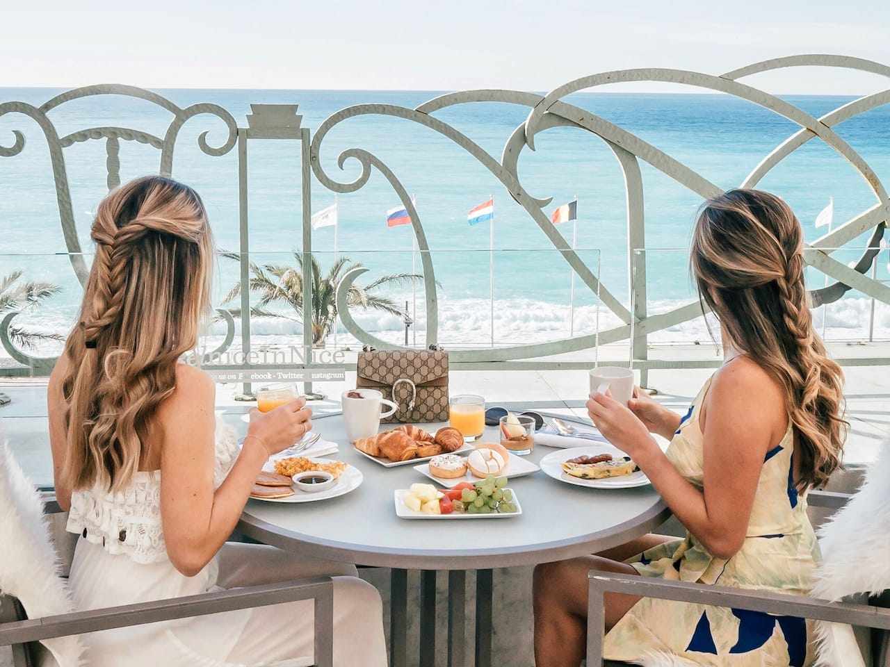 Breakfast with Sea View Terrace in Nice France