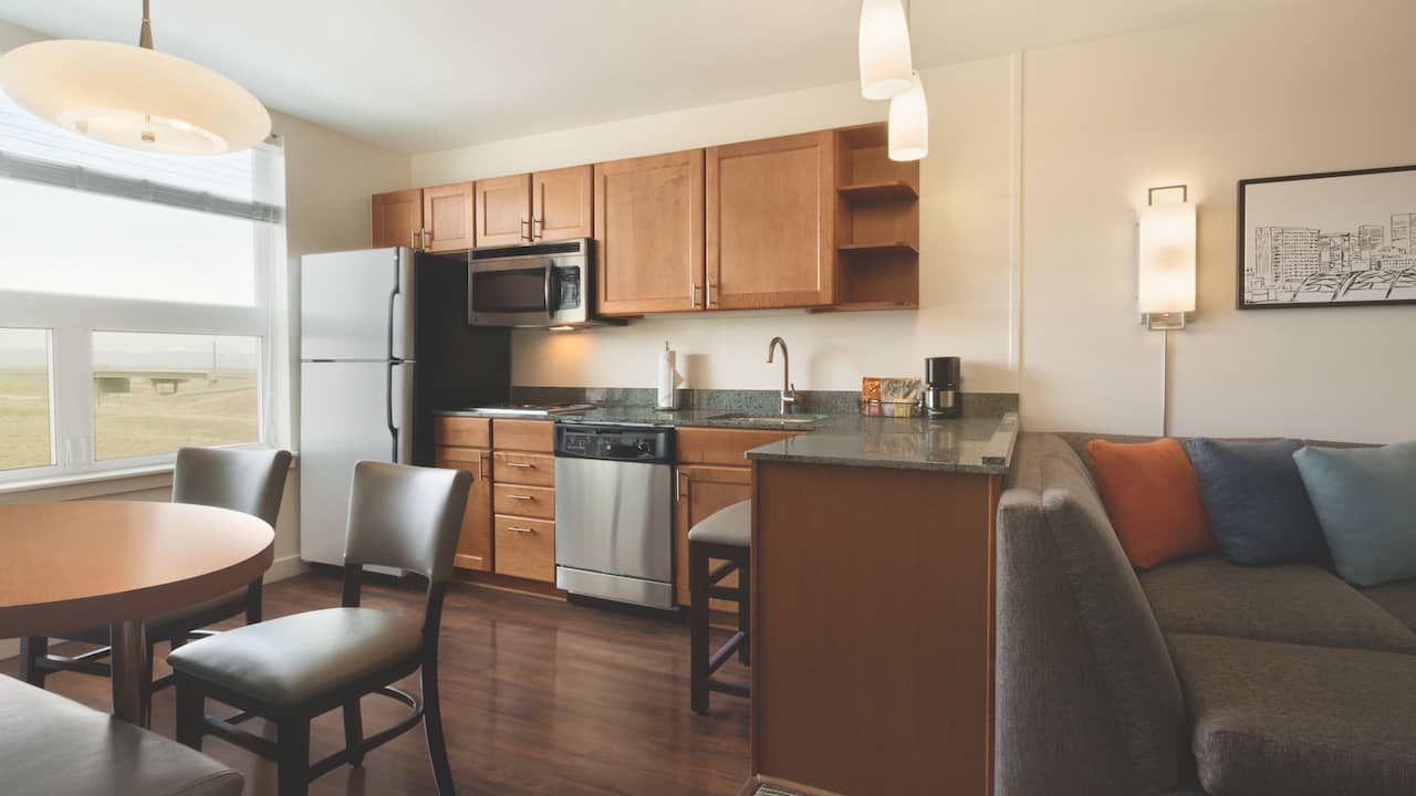 Hyatt House Denver Airport King Suite Kitchen