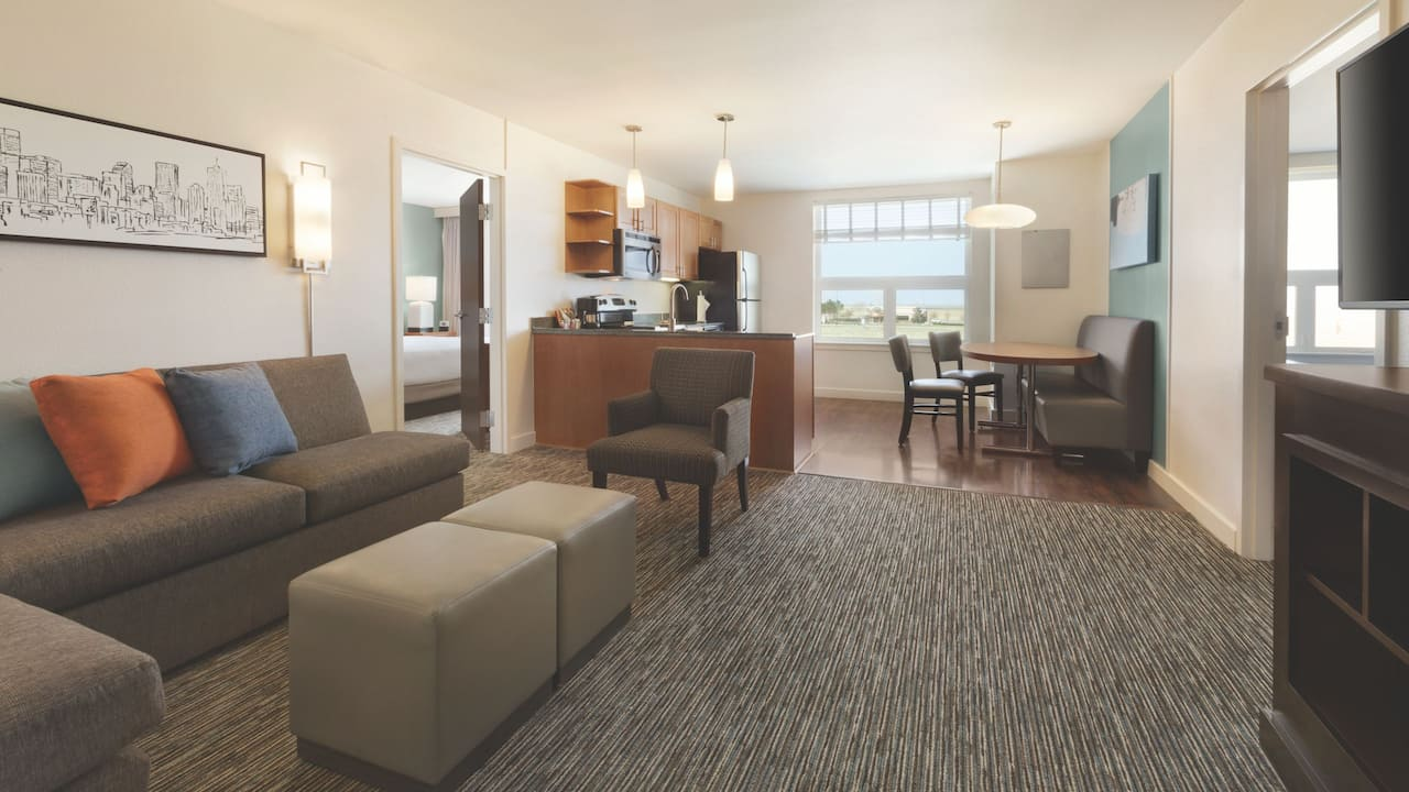Hyatt House Denver Airport, two bedroom trio suite