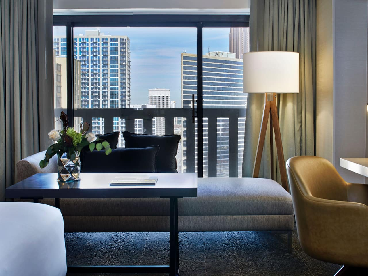 Hotel suite in downtown Atlanta near Peachtree Center