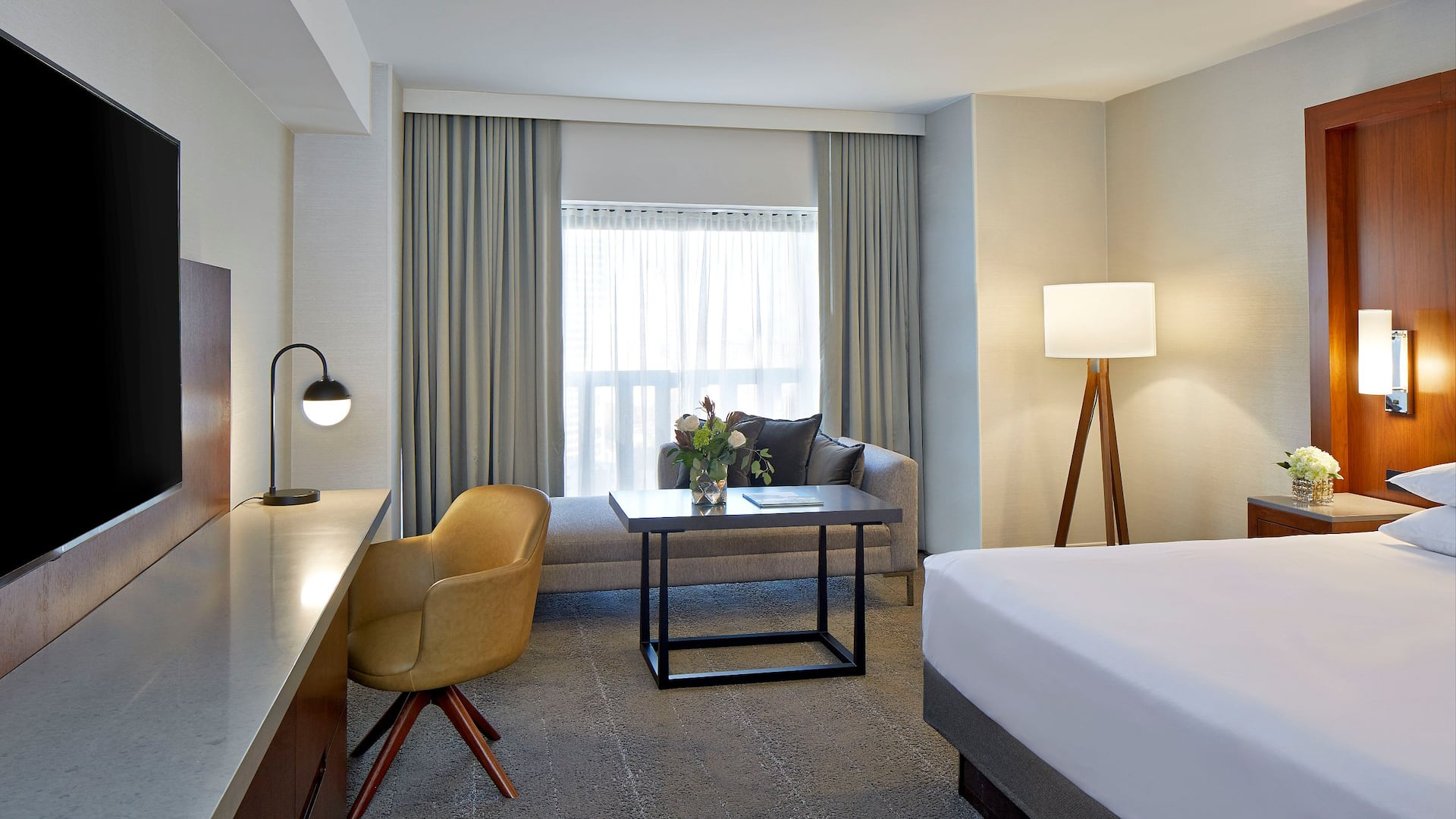 Hotel room in downtown Atlanta near World of Coca Cola