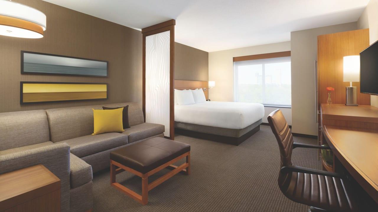 king bedroom plus sofa bed