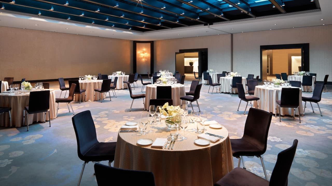 Ballroom with glass roof at Hyatt Regency Dusseldorf