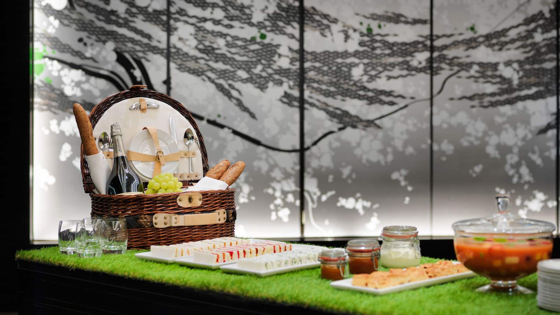 Kreatives Speisen-Setup im Hyatt Regency Düsseldorf
