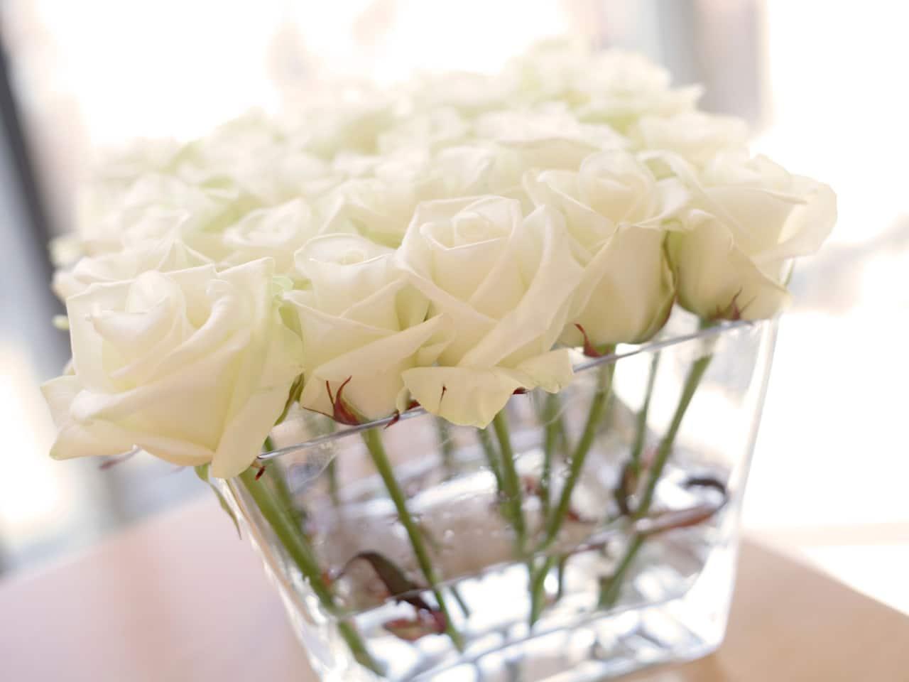Flower arrangement for wedding party at Hyatt Regency Birmingham